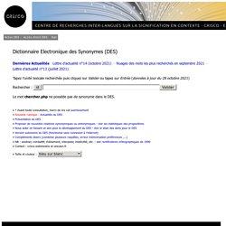 chercher.php - CRISCO - Dictionnaire des synonymes :
