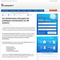 Un dictionnaire décrypte les politiques territoriales en 90 notices