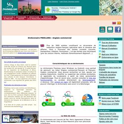 Dictionnaire et traducteur Français-Anglais commercial gratuit - FREELANG