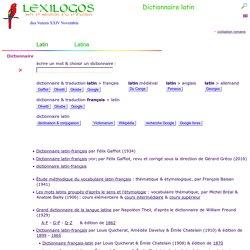 Dictionnaire français - LATIN