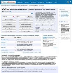 Dictionnaire français anglais
