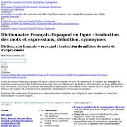 Dictionnaire français-espagnol Reverso