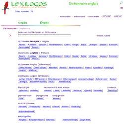 Dictionnaire anglais français, traduction en ligne - LEXILOGOS >