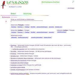 Dictionnaire breton français, traduction en ligne