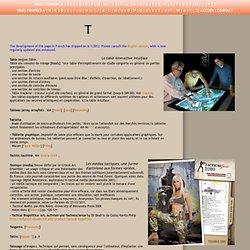 Dictionnaire critique des arts numériques. Table. Théatre. Traceur. Typographie