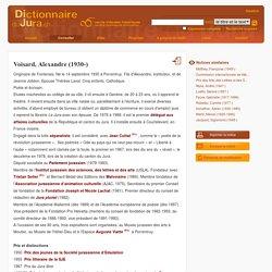 DIJU - Dictionnaire du Jura – Voisard, Alexandre (1930-)