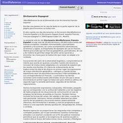 Dictionnaire Fran?ais-Espagnol WordReference