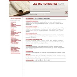 DICTIONNAIRES - Encyclopedies en ligne