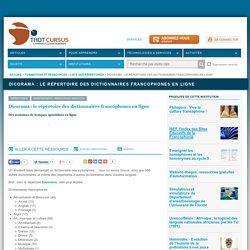Dicorama : le répertoire des dictionnaires francophones en ligne