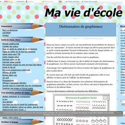 Dictionnaires de graphismes - Ma vie d'école