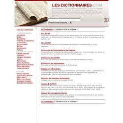 Dictionnaires e l'informatique et des nouvelles technologies