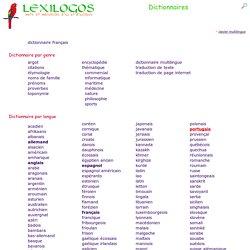 Index des dictionnaires en ligne dans toutes les langues LEXILOGOS