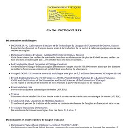 Dictionnaires et Lexiques