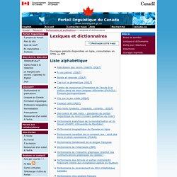 Lexiques et dictionnaires [Portail linguistique du Canada]
