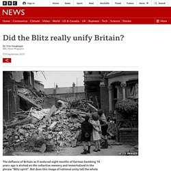 Did the Blitz really unify Britain?