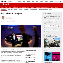 Did Labour over-spend? - BBC News