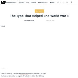 Did a Typo Help End World War II?