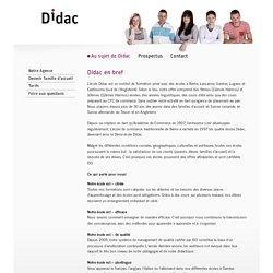 Didac - Didac en bref