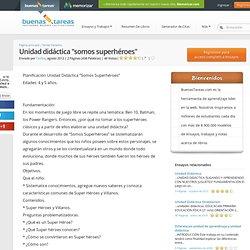 """Unidad Didáctica """"Somos Superhéroes"""" - Documentos - Tashus"""