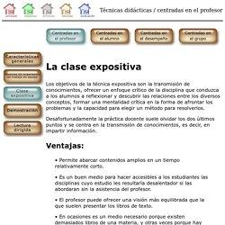 Técnicas didácticas - Centradas en el profesor - Clase expositiva