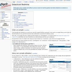 Didacticiel Redmine — April MediaWiki
