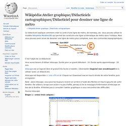 Wikipédia:Atelier graphique/Didacticiels cartographiques/Didacticiel pour dessiner une ligne de métro