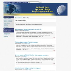 [Didacticiels, technocollège & géologie amateur] : Technocollège
