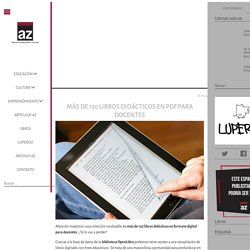 Más de 130 libros didácticos en PDF para docentes – Educación y Cultura AZ