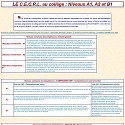 DIDACTIQUE DE L'ANGLAIS : Le cadre commun au collège