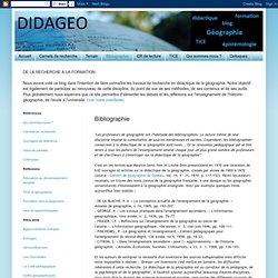 bibliographie : didactique de la géographie