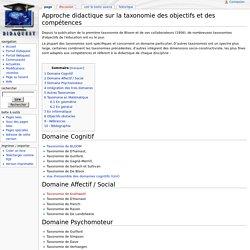 Approche didactique sur la taxonomie des objectifs et des compétences - Didawiki