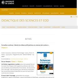 Didactique des Sciences et EDD - Didactique des sciences et EDD