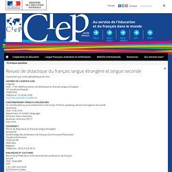 Revues de didactique du français langue étrangère et langue seconde
