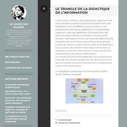 Le triangle de la didactique de l'information