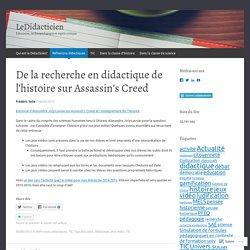 De la recherche en didactique de l'histoire sur Assassin's Creed