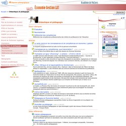 Didactique et pédagogie - Economie Gestion LGT