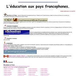 Ressources didactiques sur Internet: l'éducation aux pays francophones. C. Vera.