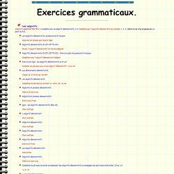 Ressources didactiques sur internet: exercices grammaticaux. C. Vera.