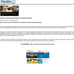 Banque de Séquences didactiques, inscription gratuite
