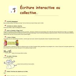 Ressources didactiques sur internet: écriture interactive. Carmen Vera