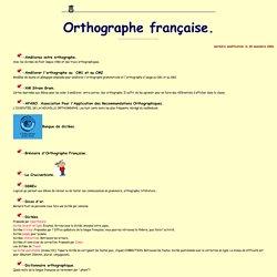 Ressources didactiques sur internet: orthographe française. C. Vera.