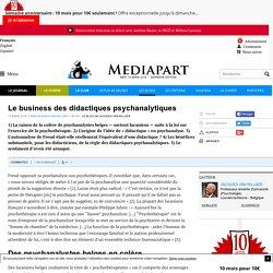 Le business des didactiques psychanalytiques
