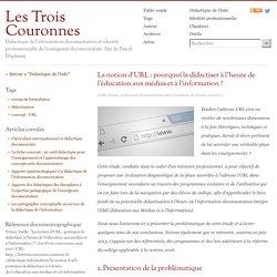 La notion d'URL: pourquoi la didactiser à l'heure de l'éducation aux médias et à l'information?