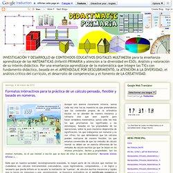 Formatos interactivos para la práctica de un cálculo pensado, flexible y basado en números.
