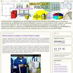 Material didáctico analógico vs material didáctico digital