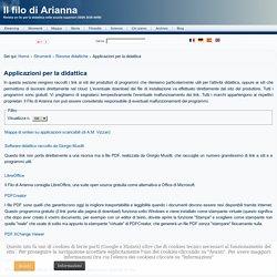 Il filo di Arianna. Rivista on line per la didattica nelle scuole superiori (ISSN 2036-8458) - Applicazioni per la didattica