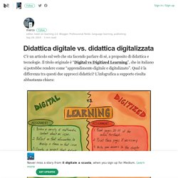 Didattica digitale vs. didattica digitalizzata – Il digitale a scuola – Medium