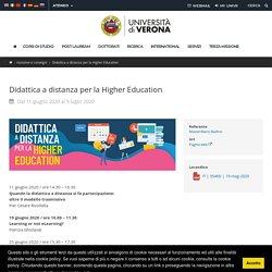 - Didattica a distanza per la Higher Education