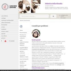 Didattica della Filosofia: L'analisi per problemi - Loescher Editore