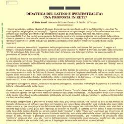 DIDATTICA DEL LATINO E IPERTESTUALITA